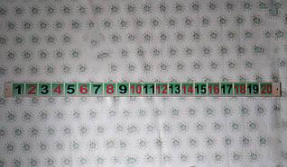 Лента цифр от 1 до 20
