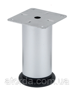Ножка мебельная регулируемая  Kapsan D=51mm H=100mm Хром