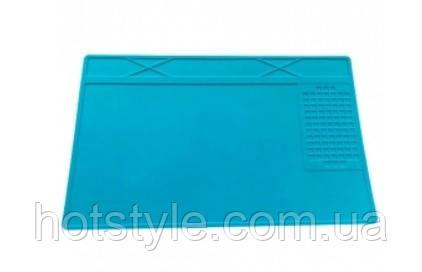 Коврик для пайки силиконовый термостойкий 31х21см с ячейками