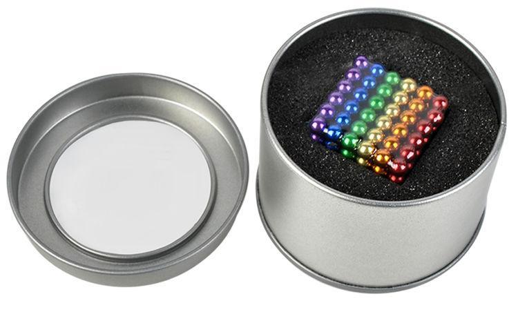 Неокуб (NeoCube,кольоровий), 216 шт. 5mm, магнітний конструктор-головоломка, фото 1