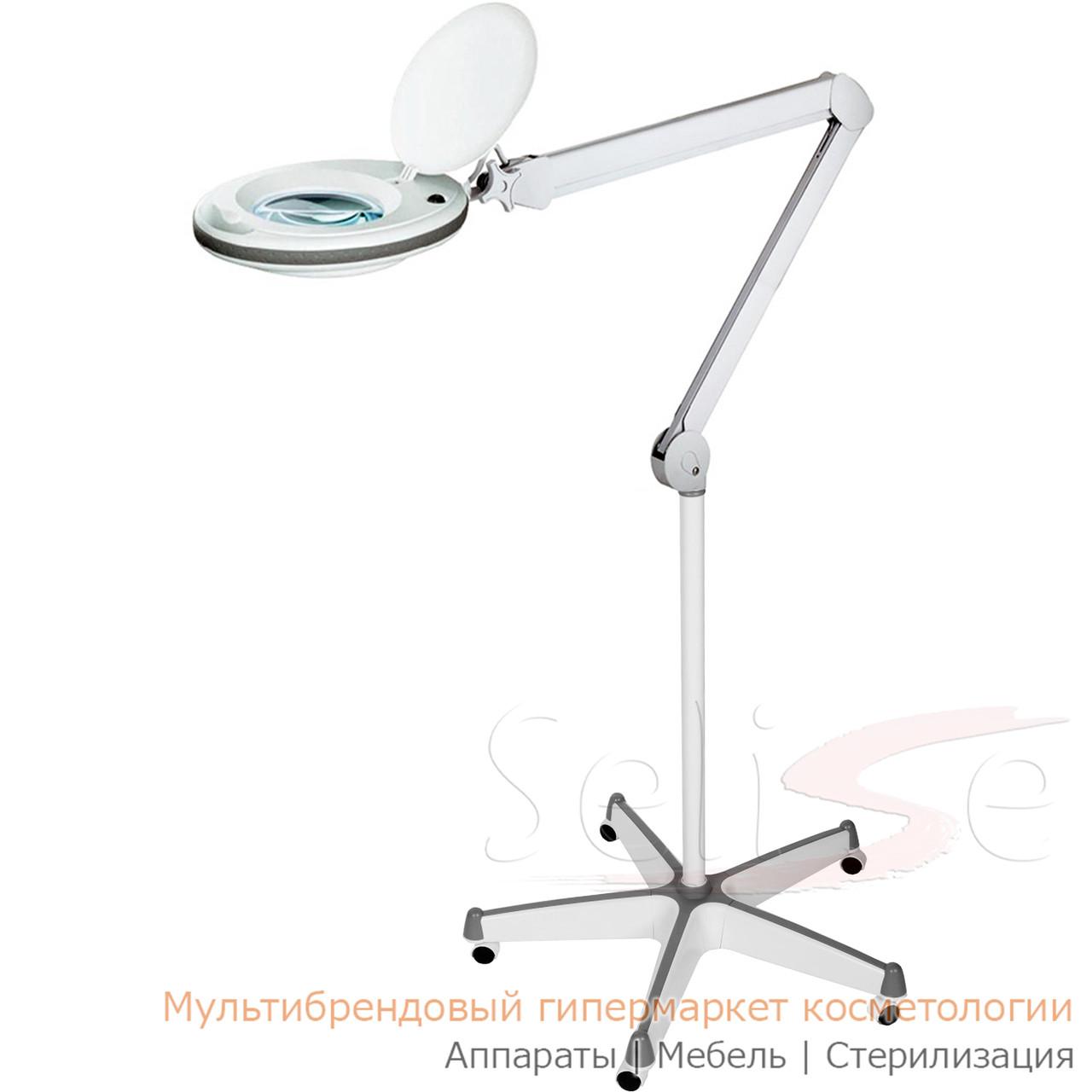 Лампа лупа на штативе 6027 пятилучевой 5А для косметолога, для наращивания ресниц