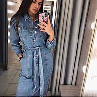 Женское джинсовое стильное платье