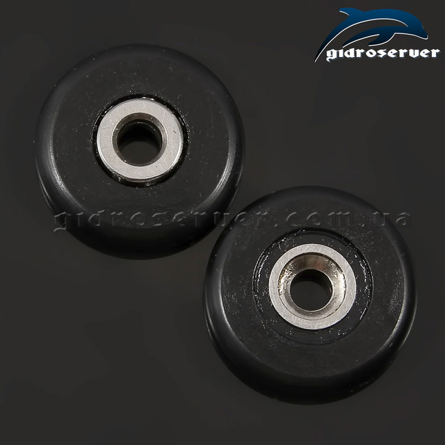 Усиленные сменные колесики для роликов душевых кабин, гидробоксов KN-01 с диаметрами 23 и 26 мм.