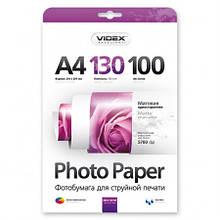 Фотобумага Videx матовая A4 130 г/м2 100 л MKA4 130/100