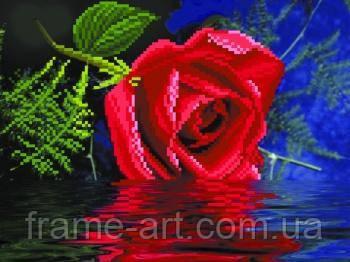 Матренин Посад 4065 Роза, схема под бисер на шелке