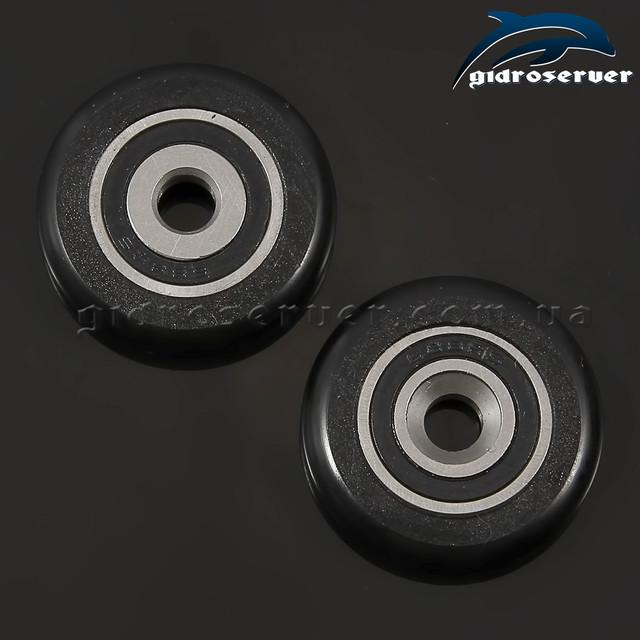 Улучшенные колеса для роликов душевых кабин, гидромассажных боксов KN-02 из нержавеющей стали с усиленным опорным подшипником скольжения, закрытого типа.