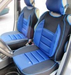 Майки на передні сидіння чорно-сині Пілот з підголовниками