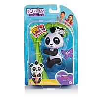WowWee Fingerlings Glitter Panda - Drew.Інтерактивна ручна чорно-біла панда Дрю.Оригінал.