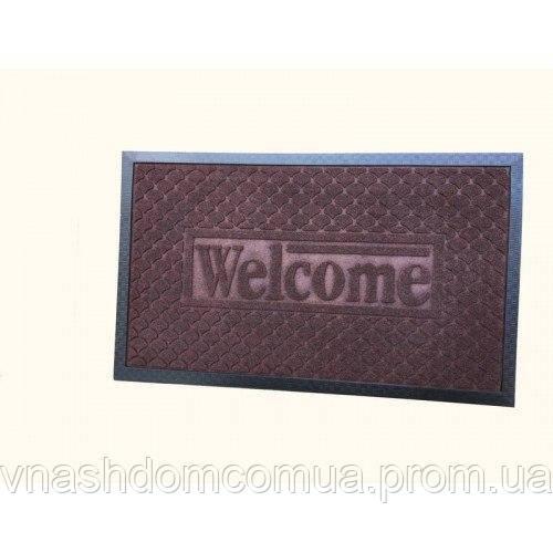 Коврик под дверь Борт Welcome 45x75