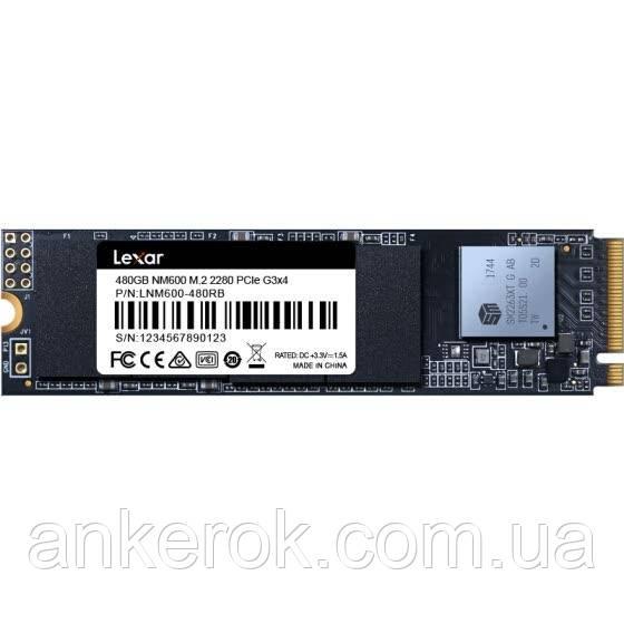 SSD накопичувач Lexar NM600 M. 2 2280 NVMe 480Gb (LNM600-480RB)