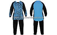 Вратарская форма (кофта с длинным рукавом + штаны) CO_0233_LG сине - черная