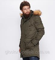 Куртка-парка мужская теплая\зимняя Glo-Story хаки Xl