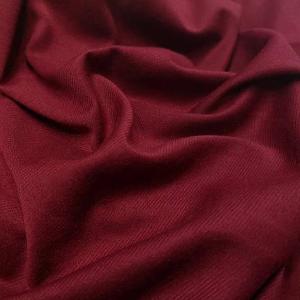 Французский трикотаж бордовый, фото 2