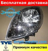 """Фара левая Рено Кенго с 2003 до 2009 """"TYC"""" белый поворотник Renault Kangoo 03-09"""