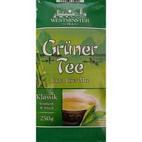 Чай Westminster Gruner Tee Klassik зелёный листовой, 250 г.