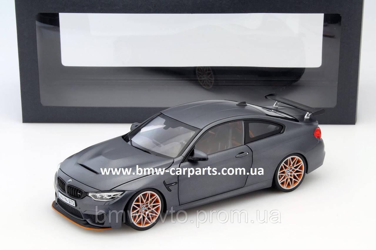 Модель BMW M4 GTS, Frozen Dark, Scale 1:18