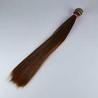 Волосы для кукол прямые 25см/≈1м 12 коричневые 570417