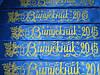 Лента Выпускник 2015 синяя с золотой надписью