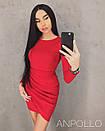 Платье облегающее с асимметричной юбкой 17py2347, фото 2