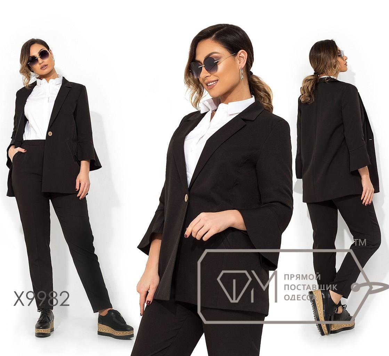 Женский брючный костюм в больших размерах с пиджаком X9982