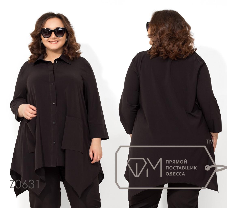 Женская блуза в больших размерах свободного кроя Z0631
