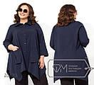 Женская блуза в больших размерах свободного кроя Z0631, фото 3