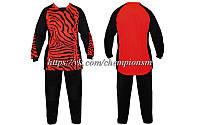 Вратарская форма (кофта с длинным рукавом + штаны) CO_023_R красно - черная, фото 1
