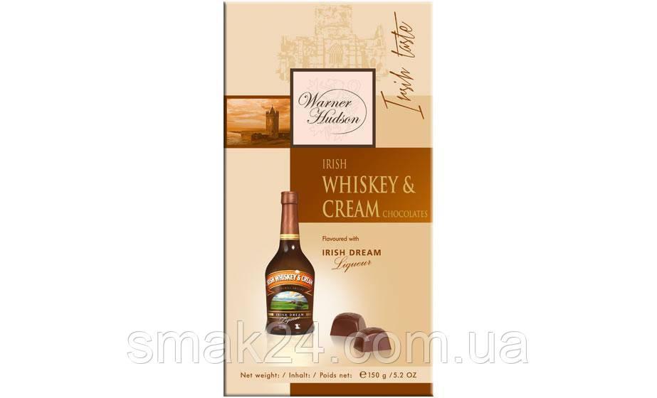 Шоколадные конфеты с виски Warner Hudson Irish Whiskey &Crem Liqueur (Ирландское виски и сливки) Германия 150г