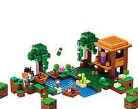 Конструктор JVToy серия Кубический мир модель Дом ведьмы 500 деталей 20005