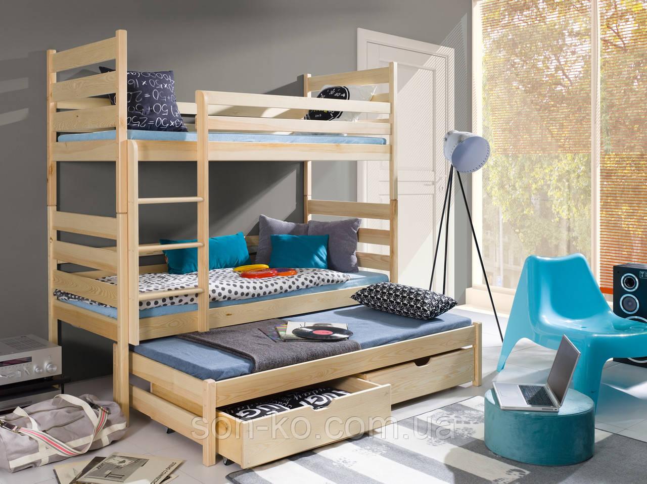 Кровать трехъярусная Каролина