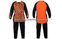 Вратарская форма (кофта с длинным рукавом + штаны) CO_0233_O оранжево - черная