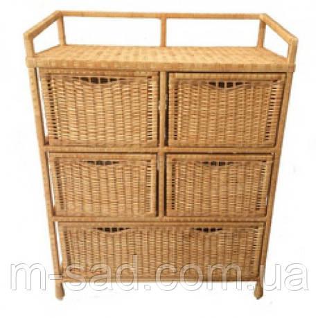 Комод плетеный с выдвижными ящиками, фото 2