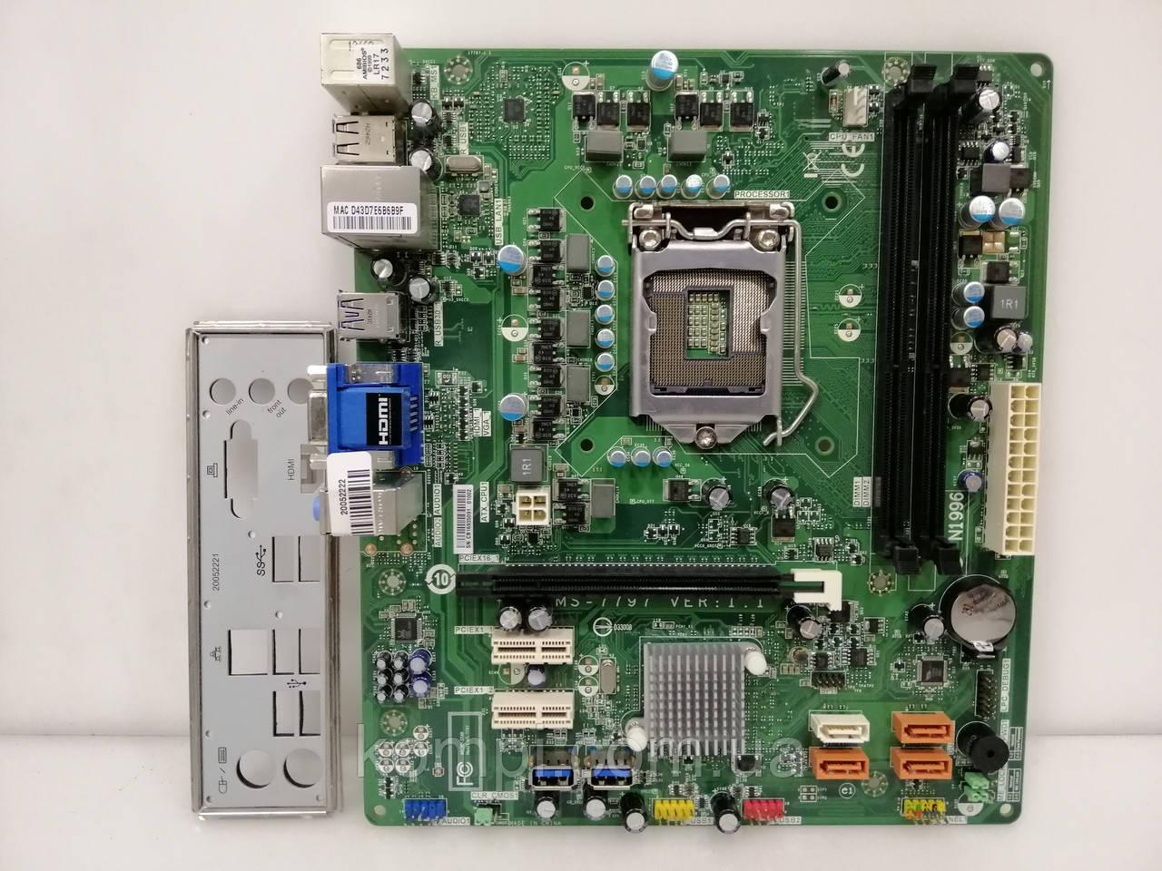 Материнская плата MSI MS-7797 Intel B75S1155 DDR3