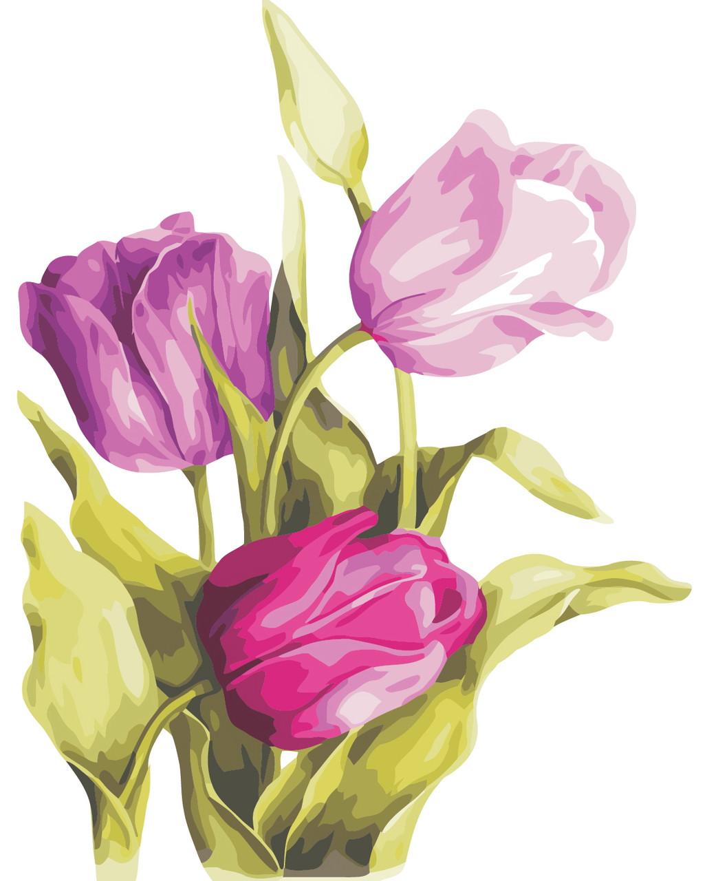 Художественный творческий набор, картина по номерам Нежные тюльпаны, 40x50 см, «Art Story» (AS0329)