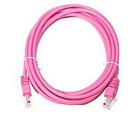 Патч-корд 3 м UTP Pink Cablexpert литой RJ45 кат.5е PP12-3M/RO