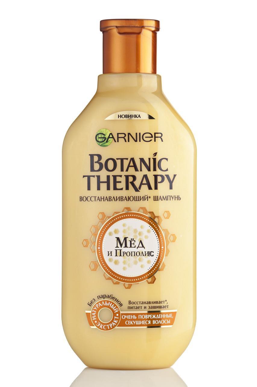 """Шампунь Botanic THERAPY """" Мёд и прополис"""" для очень поврежденных, секущихся волос (400 мл.)"""