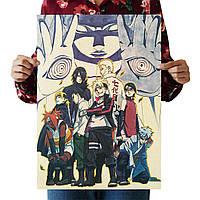 29d802ddf9fd Постер по мотивам японского аниме Наруто 50х35 см, крафтовая бумага (без  рамы)