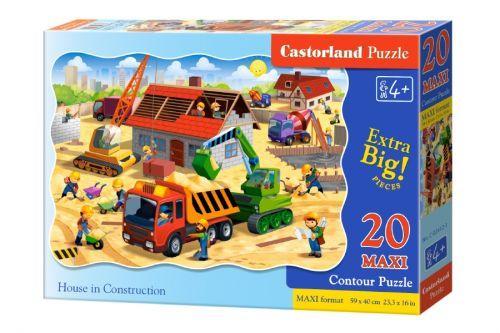 """Пазлы Макси Castorland """"Строительство дома"""", 20 элементов"""