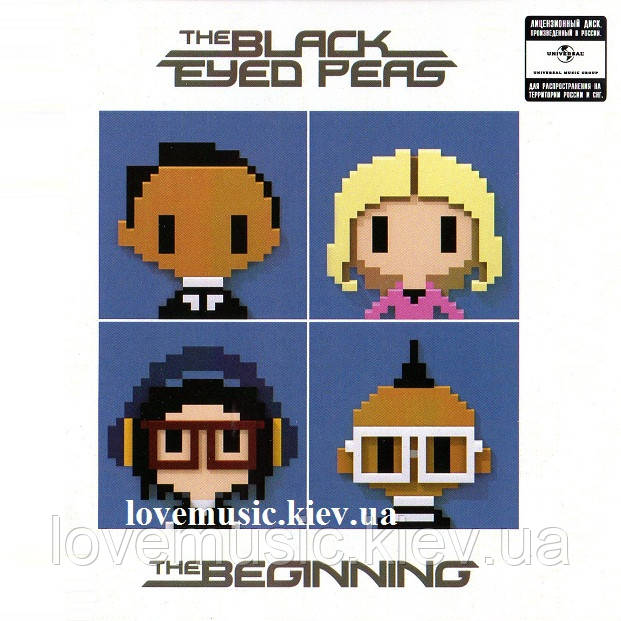 Музичний сд диск THE BLACK EYED PEAS The beginning (2010) (audio cd)
