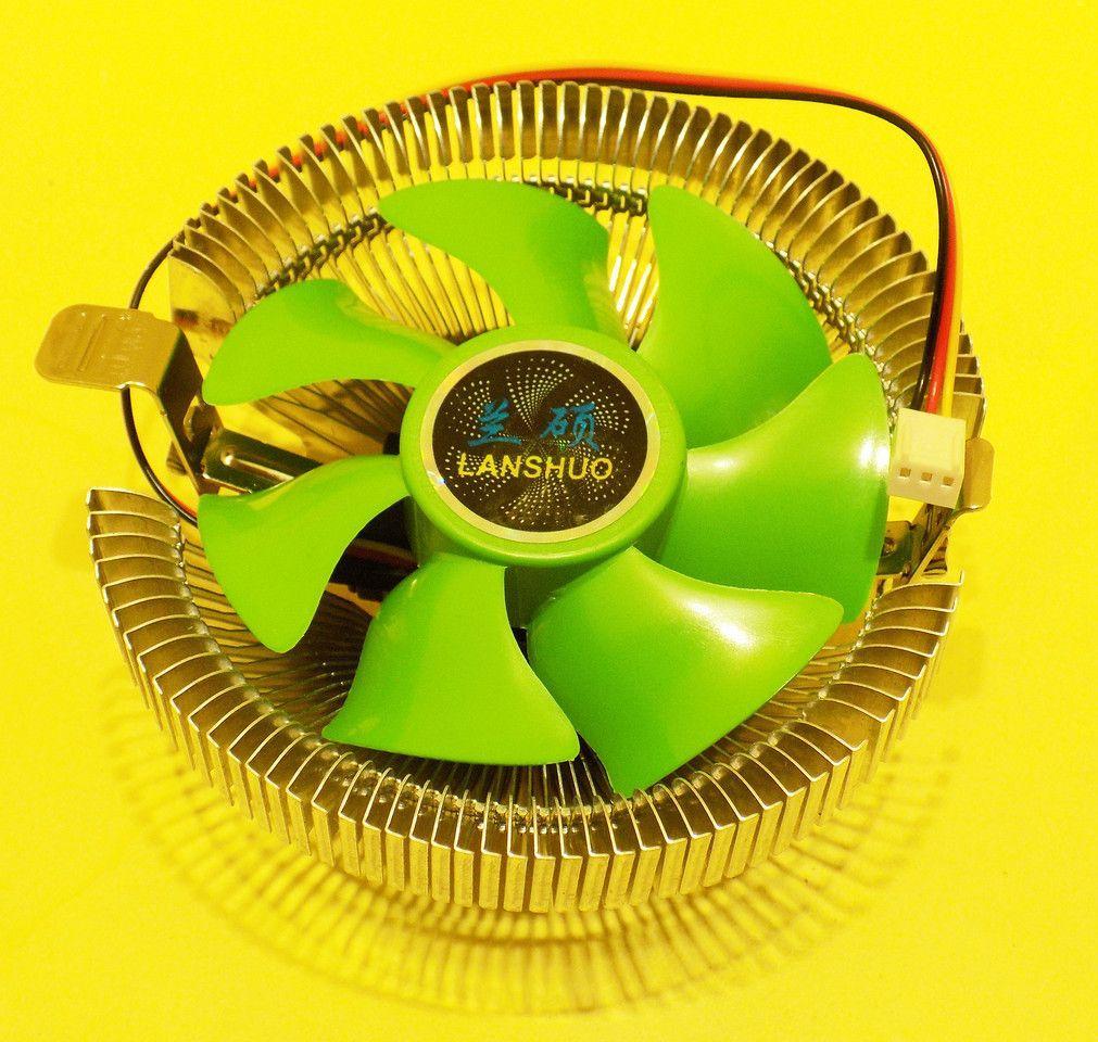 Универсальный Кулер для CPU Intel, AMD 103*45 мм 2200rpm 22Dba Зеленый