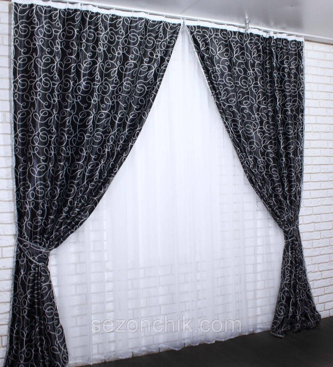Готовые шторы комплект богатые от производителя