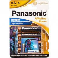 Батарейка Panasonic AA LR6 по 4шт Alkaline Power