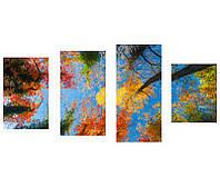 """Фотокартины для декора из 4-х частей """"Осень"""""""