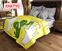 Полуторный комплект постельного белья  Кактус, фото 1