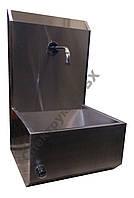 Умывальник промышленный с нажимным клапаном и санитарной панелью