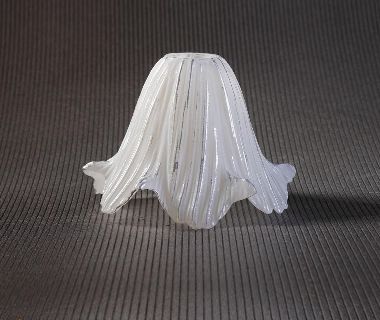 Плафон калифорния белый-серебряный, цоколь Е14
