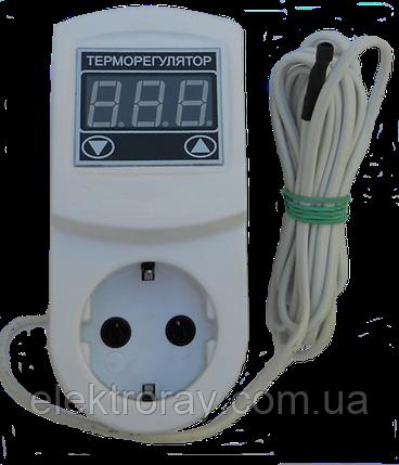 Терморегулятор МТР-2 16А N3 цифровой с заземлением DigiCOP, фото 2
