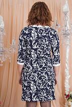 Модное стильное красивое трикотажное платье с растительным принтом., фото 3