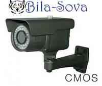 Видеокамера цветная VLC-9100WF всепогодная, 1000 ТВЛ, ИК 40м, f=2.8-10мм, CMOS, OSD меню, Light Vision