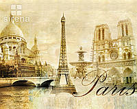 "Обои фреска. ""Париж. Винтаж"""